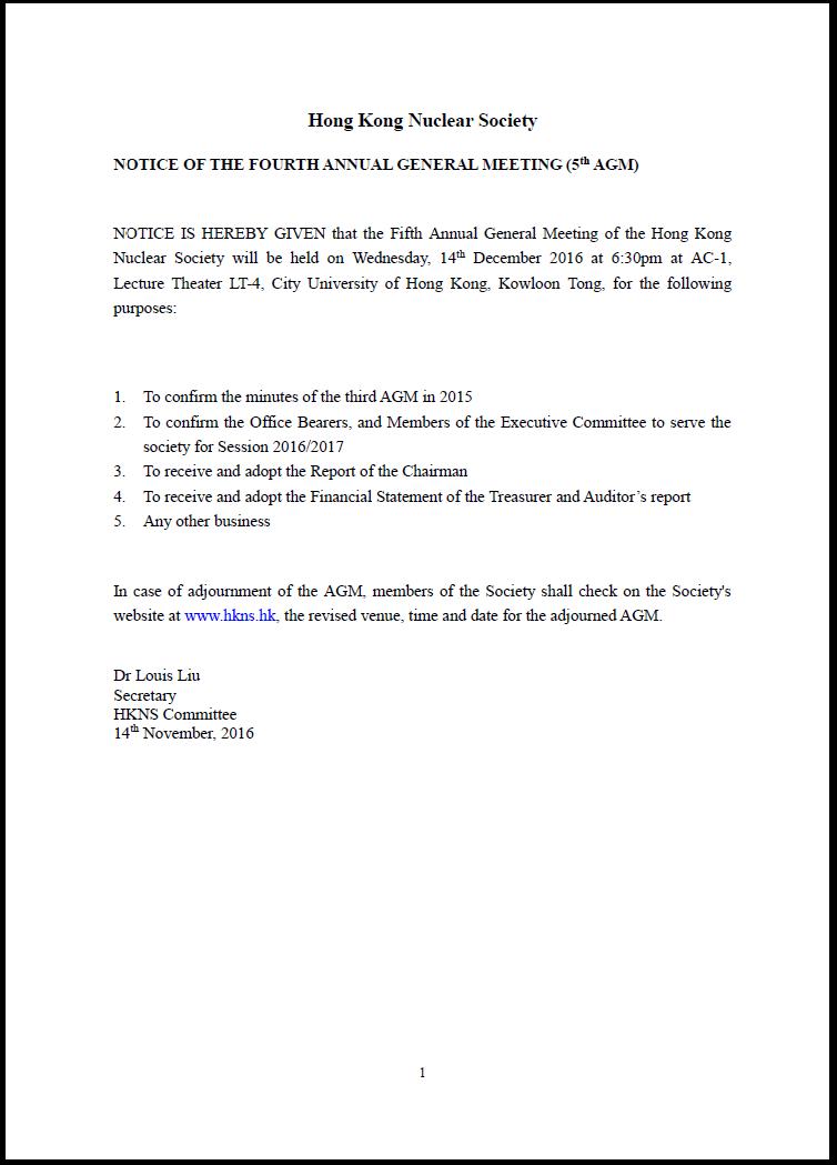 Leafletg notice of the fourth annual general meeting 5th agm 14 dec 2016 altavistaventures Choice Image